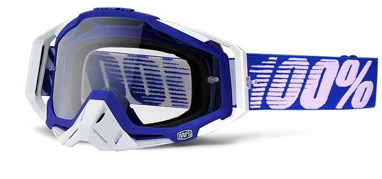 Goggles 100% Racecraft Bl/Wt Clear