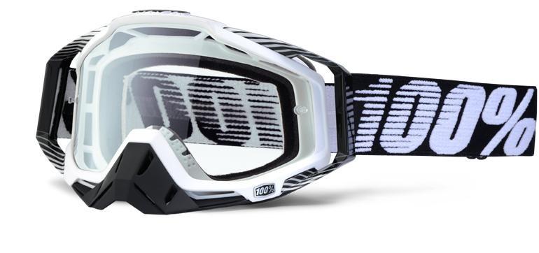 Goggles 100% Racecraft Bk/Wt Clear