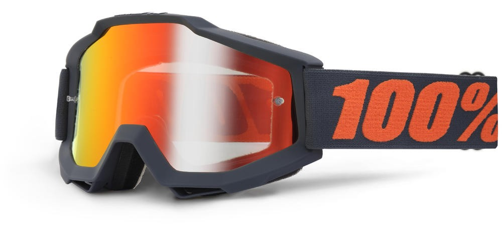 Goggles 100% Acc Gnmtl Mirror/Red