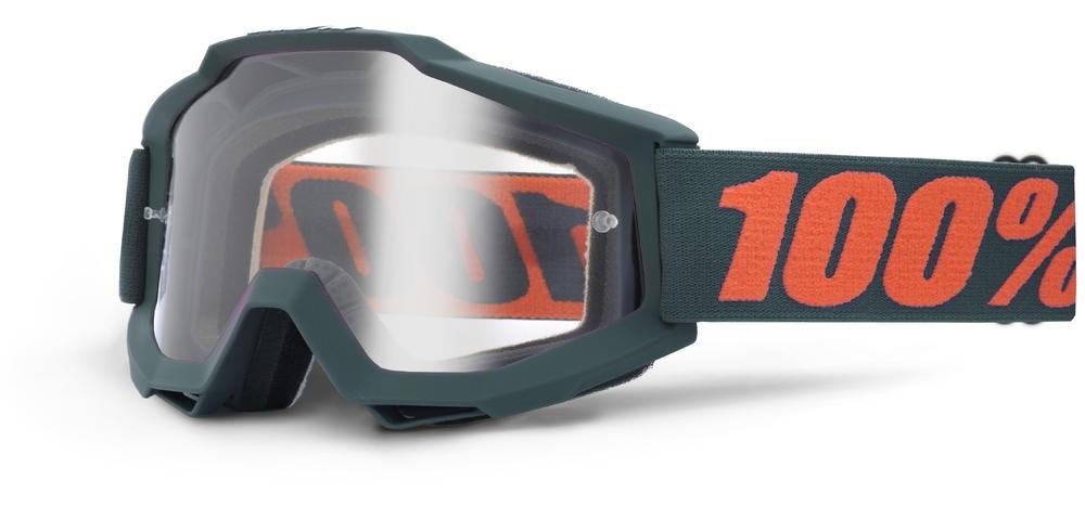 Goggles 100% Acc Gunmetal Clear