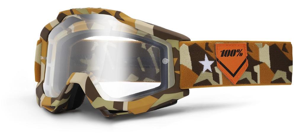 Goggles 100% Acc Camos Clear
