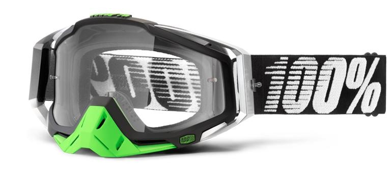 Goggles 100% Rc Bk/Cr/Gn Clear