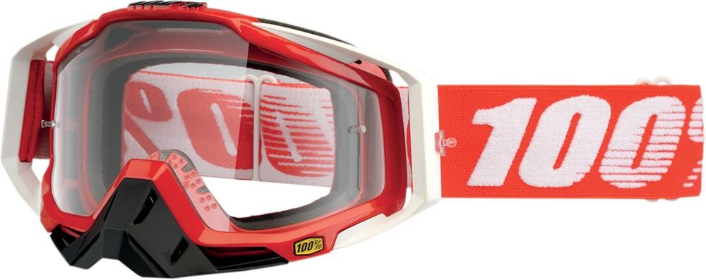 Goggles 100% Rc Fire Red Clear