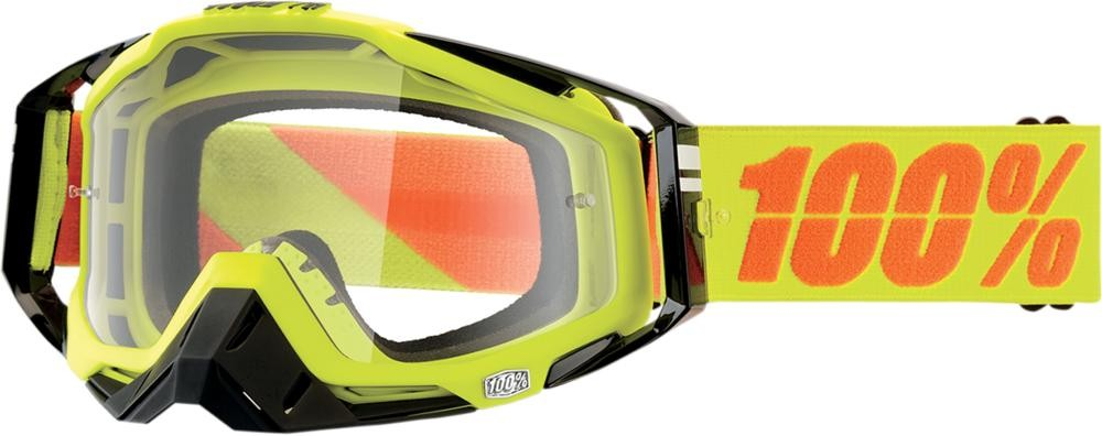 Goggles 100% Rc Neon Yl Clear