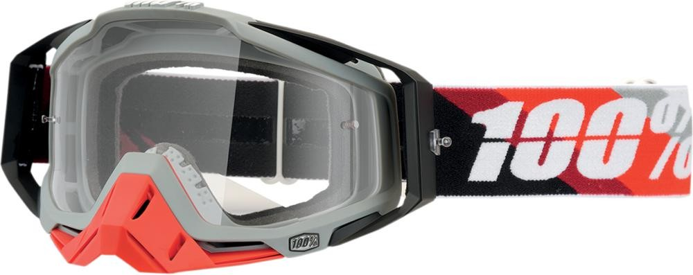 Goggles 100% Rc Prium Red Clear