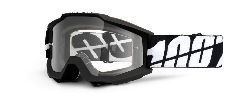 Goggles 100% Acc Bk Tor Clear
