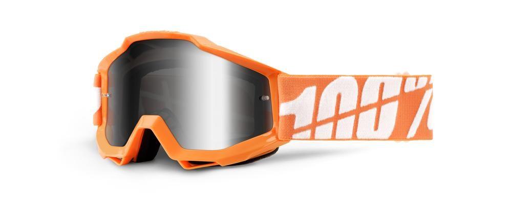 Goggles 100% Yth Or/Wt Mirror Si