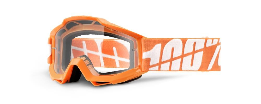 Goggles 100% Yth Or/Wt Clear