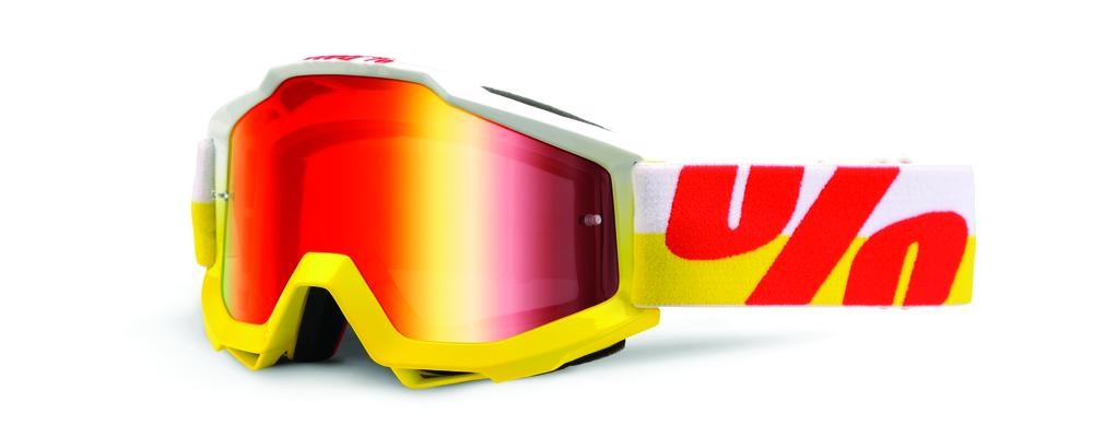 Goggles 100% Acc In Out Yl/Rd Mr Red