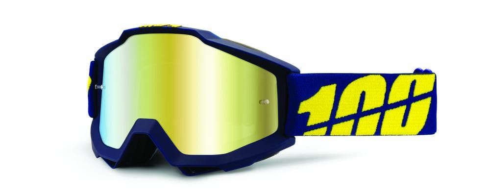 Goggles 100% Acc Chrge Bl/Yl Mr Gold