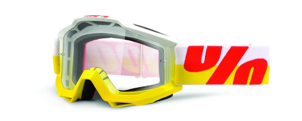 Goggles 100% Acc In Out Yl/Rd Clear