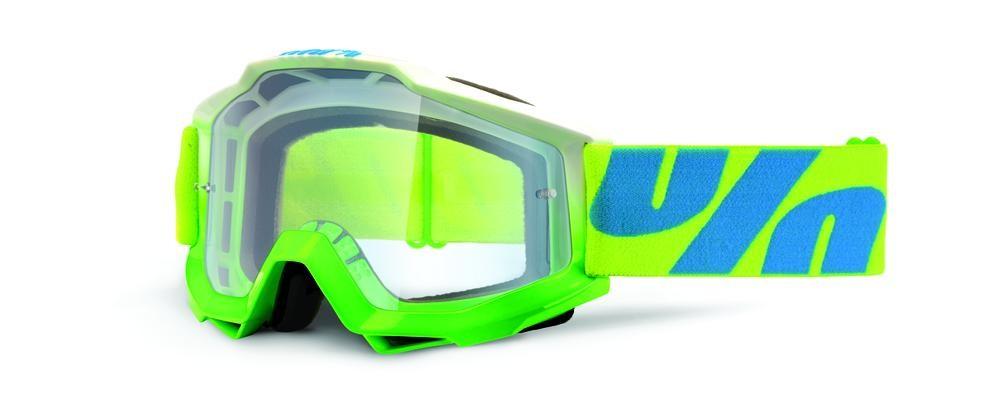 Goggles 100% Acc Cuda Gn/Bl Clear