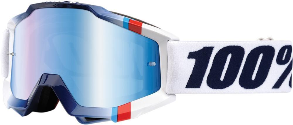 Goggles 100% Ac Wt Crstl Mir Bl
