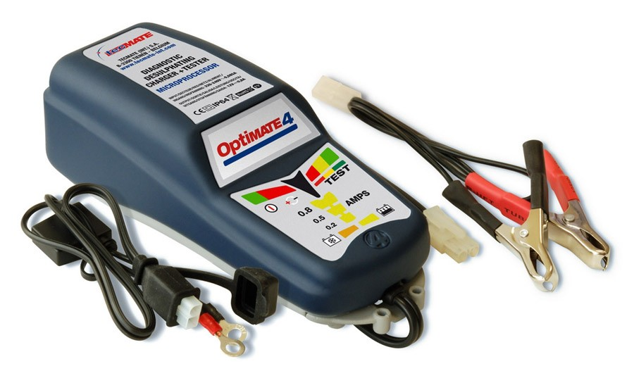 Desulphating battery optimiser & maintainer-charger OptiMATE 4 -Dual Program