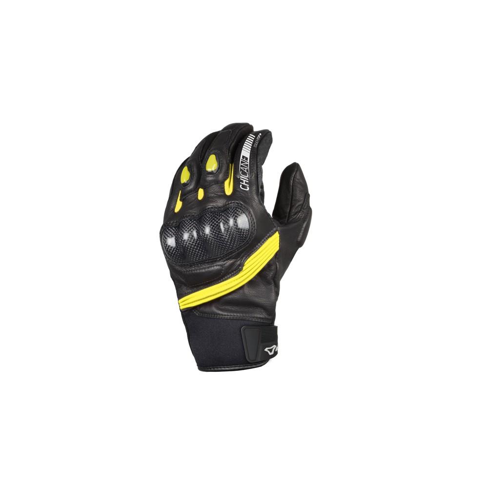Pirštinės MACNA Chicane (Black/Yellow)