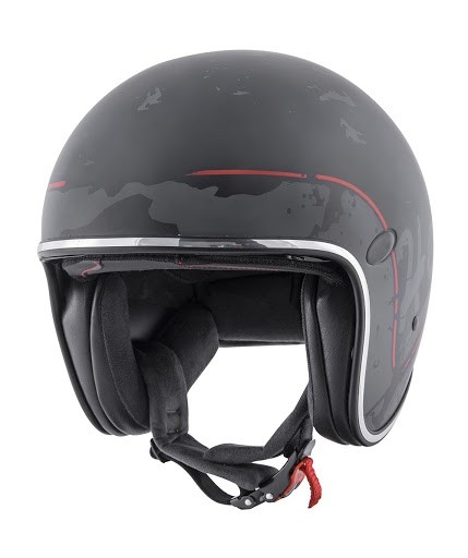 Šalmas HEVIK HV29 SMART MATT BLACK/RED S