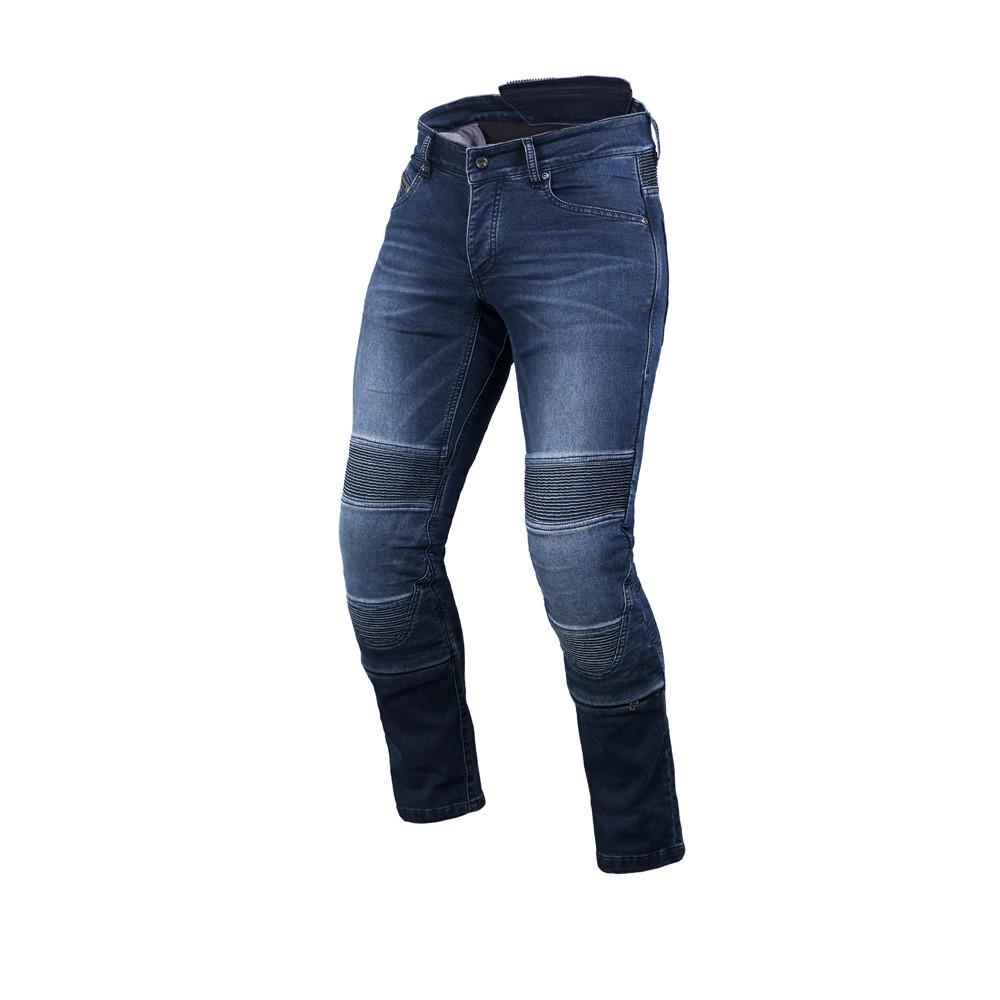 Tekstilinės vasarinės kelnės MACNA Individi (Blue)