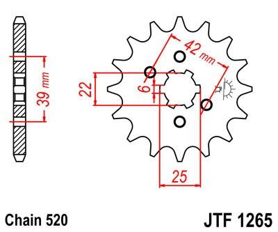 Front sprocket JT (JTF 1265-13)