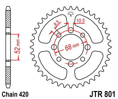 Rear sprocket JT (JTR 801-29)