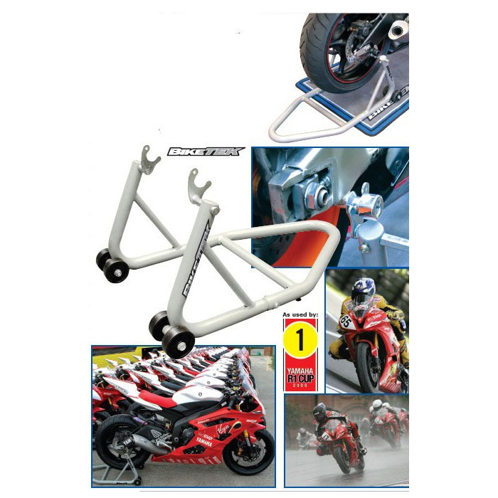 Extra light rear motorcycle stand BIKETEK