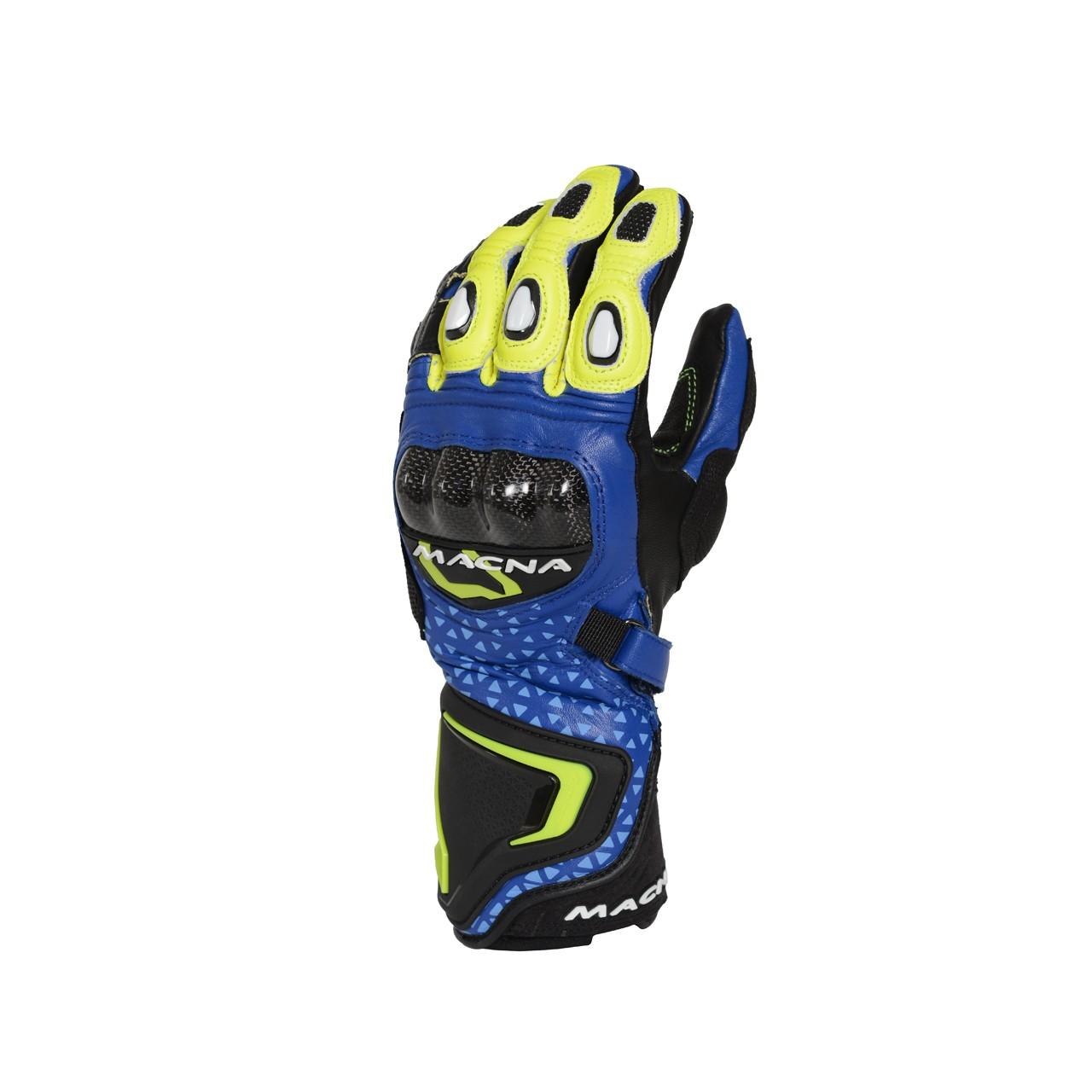 Pirštinės MACNA Track R (Blue/Black/Fluo yellow)