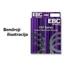 Carbon Fibre Motorcycle Clutch Friction Plate kit EBC-CKF2325