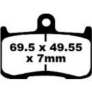 Disk brake pads EBC-GPFAX347HH