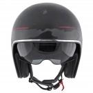 Jet helmet HEVIK SMART Matt black / Red