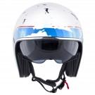 Jet helmet HEVIK SMART Gloss white / Blue