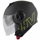 Demi-jet helmet HEVIK METROPOLE Matt Titanium / Yellow