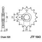 Front sprocket JT (JTF 1043-14)